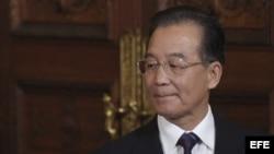 "Primer ministro chino, Wen Jiabao, en Bruselas (Bélgica). China bloqueó el acceso a la web del diario ""The New York Times""."