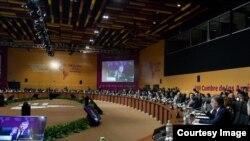 Plenario de la VIII Cumbre de las Américas.