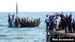 Balseros cubanos llegan a Honduras. (Imagen de archivo)