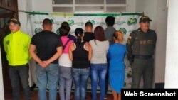 Cubanos detenidos en Abrego Foto de la Policía Nacional Colombia