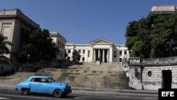 Vista de la Universidad de La Habana, Cuba