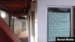 Normas de conducta para los cubanos en un albergue de Panamá.