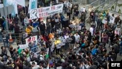 Protestantes en China por desaparecidos.
