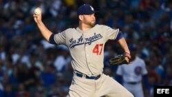 Archivo -El lanzador Ricky Nolasco de los Dodgers de Los Angeles.