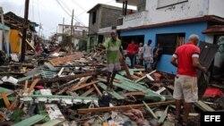 Destrozos y estragos causados por el paso del huracán Matthew en Baracoa, Guantánamo, en octubre de 2016.