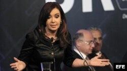 La presidenta argentina, Cristina Fernández, en Buenos Aires. Archivo.