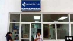 Una oficina de Correos de Cuba.