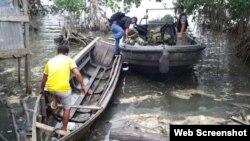 Embarciónn utilizada por migrantes cubanos en Turbo
