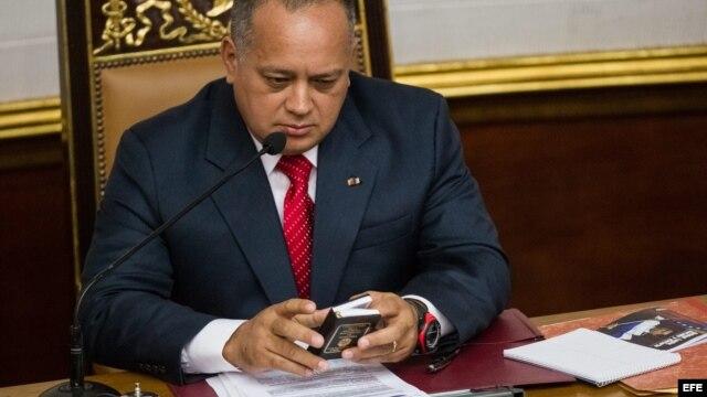 Presidente de la Asamblea Nacional de Venezuela, Diosdado Cabello,  sábado 5 de enero de 2013