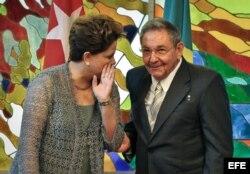 Raúl Castro y Dilma Rousseff.