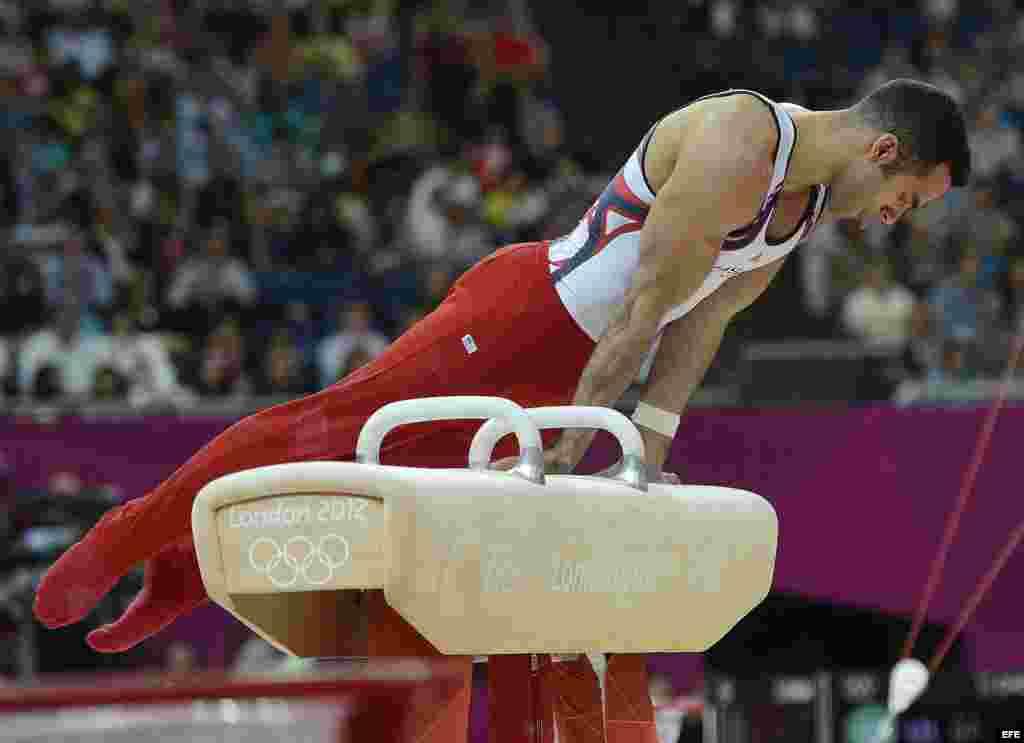El cubano-americano Danell Leyva competirá el martes 7 de agosto en la barra fija en busca de otra medalla.