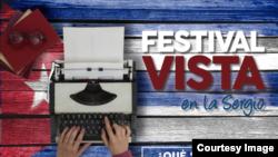 Cartel del Festival VISTA en la Universidad Sergio Arboleda de Bogotá.