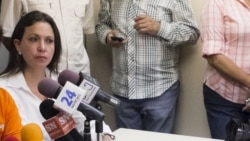 """""""Venezuela es un régimen de facto, está suspendiendo garantías"""", afirma María Corina Machado"""