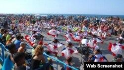Carnaval de La Habana. Desfile de comparsas.