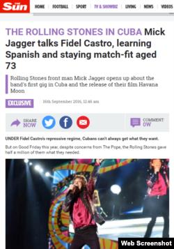 La entrevista de Mick Jagger para The Sun.