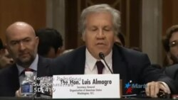 """Almagro denuncia ante Senado de EEUU el """"colapso de la democracia"""" en Venezuela"""