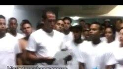 Migrantes cubanos presos en Gran Caimán envían mensaje