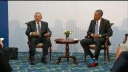 Raúl Castro habla a la prensa sobre encuentro con Barack Obama
