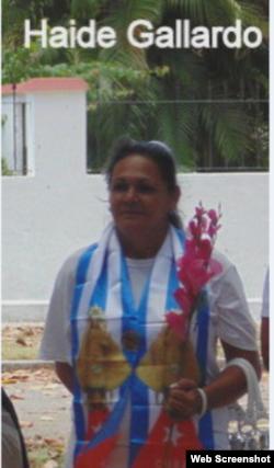 Reporta Cuba. Haydeé Gallardo Salazar, Dama de Blanco.