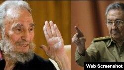 Imágenes de Archivo de Fidel y Raúl Castro