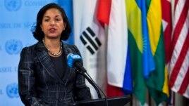 Susan Rice embajadora de EE UU en la ONU.