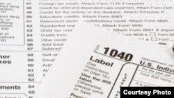 El formulario 1040 de declaración de impuestos