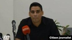 Carlos Amel Oliva, líder juvenil de la Unión Patriótica de Cuba, UNPACU.