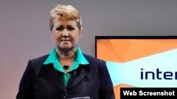 Aixa Hevia, vicepresidenta de la UPEC (verdadecuba.blogspot.com)