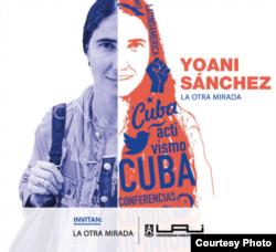 Imagen promocional de la conferencia que dará Yoani Sánchez en Chile el 22 de abril.