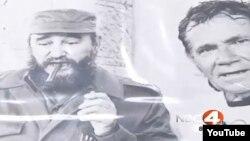 """Walter Poenisch se reúne con Fidel Castro antes de su histórico """"Nado por la Paz"""" entre Cuba y Florida en 1978 (video nbc4i.com)."""
