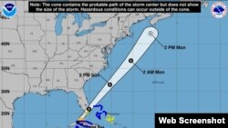 La Tormenta tropical Philippe.