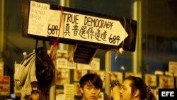 Hong Kong, manifestaciones a favor de elecciones libres.