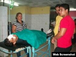 Los heridos son atendidos en el Hospital Celia Sánchez Manduley.