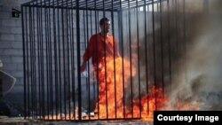 Terroristas del Estado Islámico queman vivo a un piloto jordano que había caído en su poder cuando realizaba vuelos de reconocimiento sobre su califato.