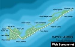 Mapa de Cayo Largo.