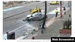 Vehículo diplomático involucrado en accidente deja un muerto y ocho heridos