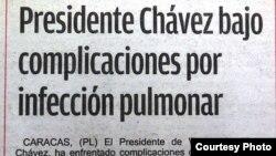 ¿Quiénes fueron los que mintieron sobre el estado de salud de Chávez?