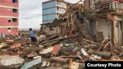 Destrozos luego del paso del huracán Matthew por Baracoa/ Tomada del Twitter de Mike Theiss