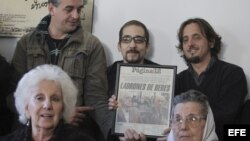 Abuelas de Plaza de Mayo Estela de Carloto en una rueda de prensa con motivo de la muerte del ex dictador argentino Jorge Rafael Videla