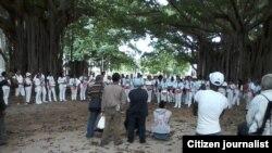 Interrogan a Dama de Blanco que prepara acto por el día de los Derechos Humanos