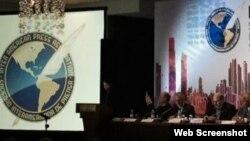 Reunión de medio año de la Sociedad Interamericana de Prensa (SIP), en el Hotel Hilton de Panamá.