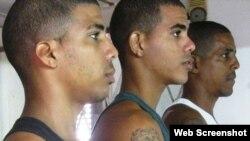 Opositores que protestaron el 26 de julio en Santiago de Cuba.