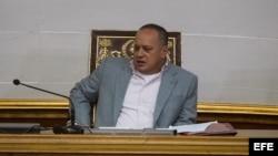 El presidente de la Asamblea Nacional de Venezuela, Diosdado Cabello