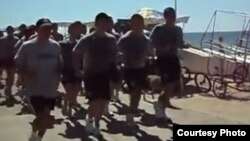 Soldados chilenos en Viña del Mar