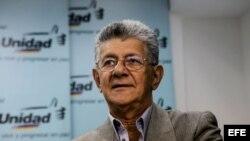 El presidente de la Asamblea Nacional de Venezuela, el diputado Henry Ramos Allup.