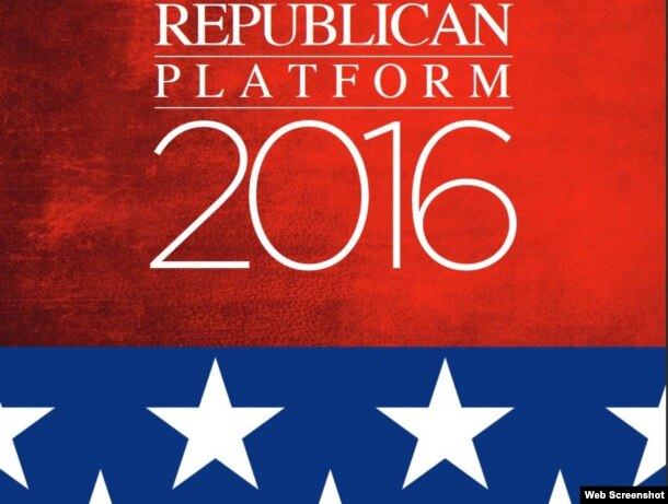 Plataforma Republicana 2016.