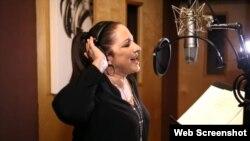 La cantante cubanoamericana Gloria Estefan.