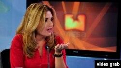 Cristina Escobar, periodista de la Televisión Cubana y de teleSUR especializada en el diálogo Cuba–EEUU.