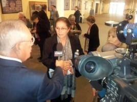 Ofelia Acevedo está en la junta de asesores del Foro de Promoción Democrática Continental. Foto Jorge Riopedre