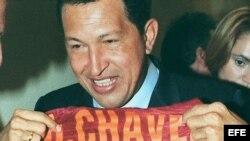 Una foto de archivo del presidente de Venezuela, Hugo Chávez.